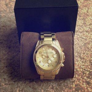 Michael Kors gold watch (women's)